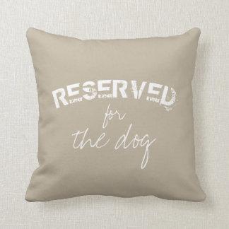 reserverat för hundcitationstecknet kudde beigen
