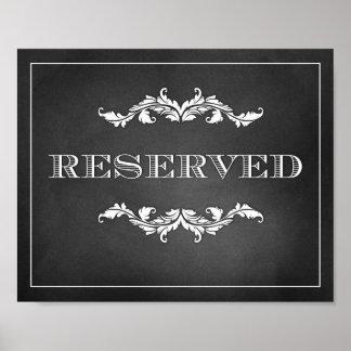 Reserverat underteckna bröllop eller partyet 8x10 poster