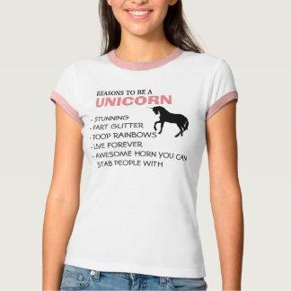Resonerar för att vara en unicorn t-shirts