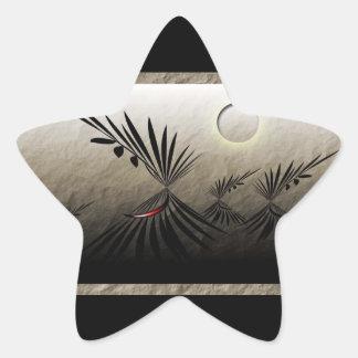 Resor Stjärnformat Klistermärke