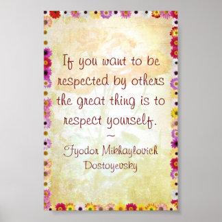 Respekt dig (det Dostoyevsky citationstecknet) Poster