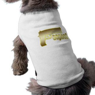 Respekt i guld hundtröja