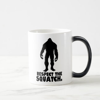 Respekt Squatchen   Bigfoot Sasquatch Magisk Mugg