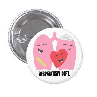 Respiratorisk terapi Dept. Lungs knäppas RT Mini Knapp Rund 3.2 Cm