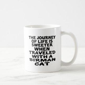 Rest med den Birman katten Kaffemugg