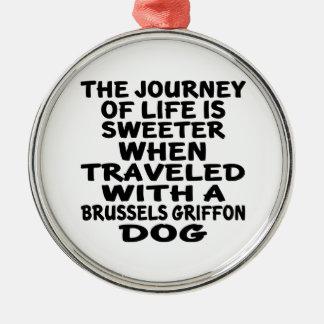 Rest med en Bryssel Griffon livpartner Julgransprydnad Metall