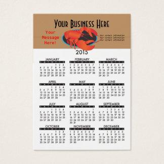 Restaurang 2015 för visitkortkalenderskaldjur visitkort