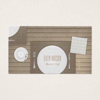 Restaurang och catering visitkort
