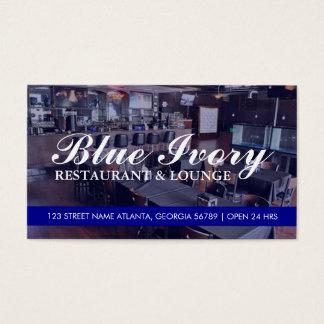 Restaurangägare - blått visitkort