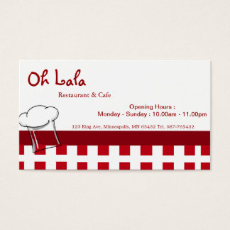 RestaurangCafevisitkort Visitkort