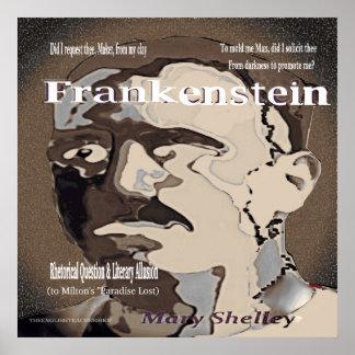 Retoriska Frankenstein ifrågasätter Poster