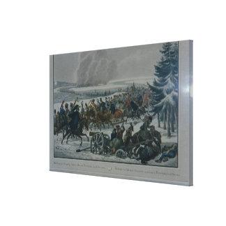 Reträtten av den franska armén från Moscow Canvastryck