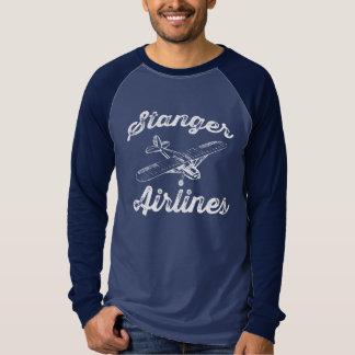 Retro 3/4 skjorta för Stanger flygbolag T Shirt