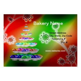 "Retro 3,5"" x 2"" (knubbig) bageri-/muffinsaffär visitkort mallar"