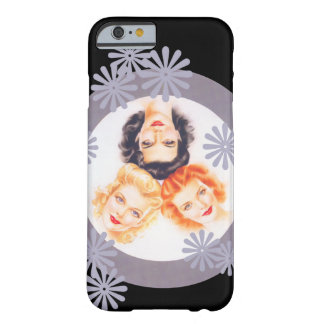 Retro 40-talpinupflickor barely there iPhone 6 skal
