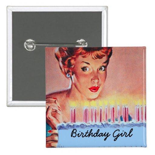 Retro 50-talfödelsedag nål