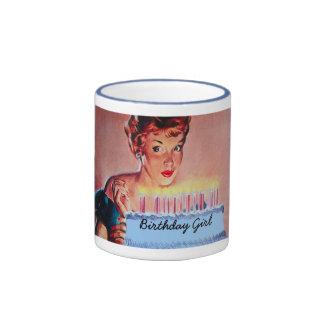 Retro 50-talfödelsedag ringer mugg