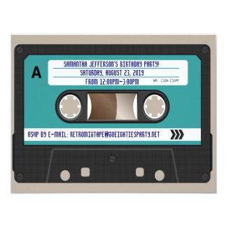 Retro 80-talkassettMixtape personlig 10,8 X 14 Cm Inbjudningskort