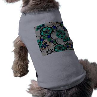 Retro abstrakt T-tröja för husdjur för blommakrick Långärmad Hundtöja