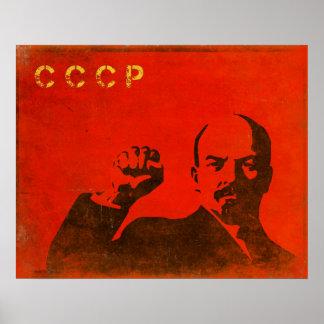 Retro affisch med det vintageLenin USSR trycket Poster