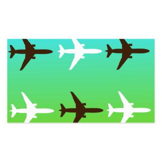 Retro Airplaine Set Av Standard Visitkort
