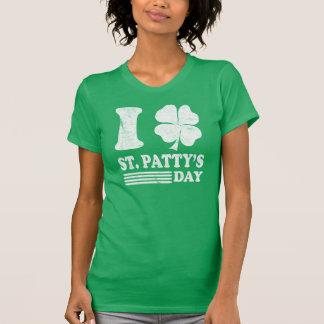 Retro älskar jag Sts Patrick T-skjortan Tröja