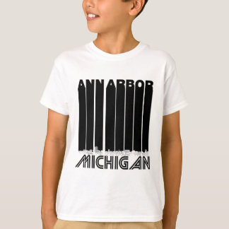 Retro Ann Arbor Michigan horisont T Shirt