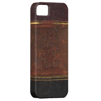 Retro antik bok, destinerad brunt för fauxläder iPhone 5 hud