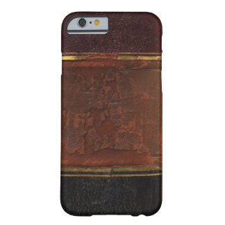 Retro antik bok, destinerad brunt för fauxläder barely there iPhone 6 skal
