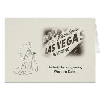 Retro antikvitet kort för vårt Las Vegas bröllop