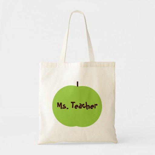 Retro Apple Persoanlized läraregåvor Tote Bags