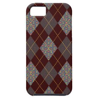 Retro Argyle moderiktigt medeltida tryck iPhone 5 Case-Mate Cases