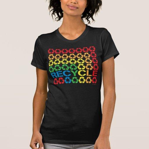 Retro återvinnaskjorta tshirts