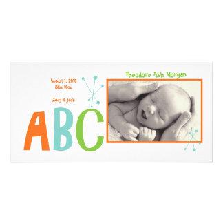 Retro baby för ABC Fotokort Mall
