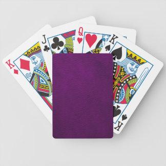 Retro beställnings- lilaläder spelkort