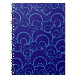 Retro blått anteckningsbok