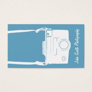 Retro blått- & vitvintage filmar kamerafotografi visitkort