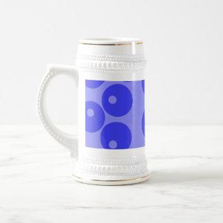 Retro blåttmönster. Cirklar design Sejdel
