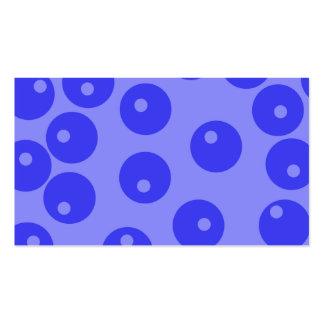 Retro blåttmönster. Cirklar design Visitkort Mallar