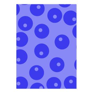 Retro blåttmönster. Cirklar design Set Av Breda Visitkort