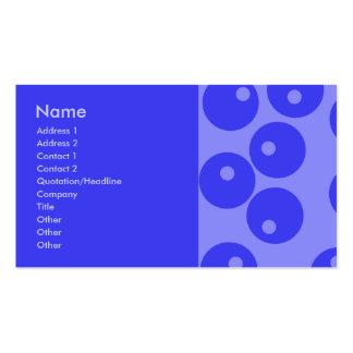 Retro blåttmönster. Cirklar design Visit Kort