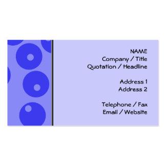 Retro blåttmönster. Cirklar design Visitkort