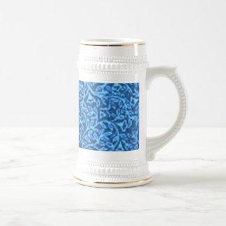 Retro blom- blått sejdel