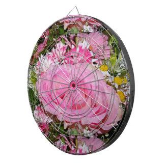 retro blom-, blommor, dekorativt som är piltavla