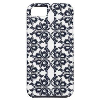 Retro blom- fodral för för blommamönsterblått och iPhone 5 Case-Mate cases