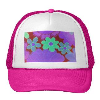 Retro blomma för 70-tal hatt keps