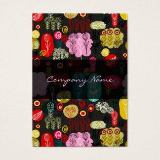 Retro blommamönster 4 för färgrik enkel hand visitkort