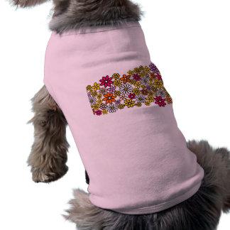 Retro blommamönster långärmad hundtöja