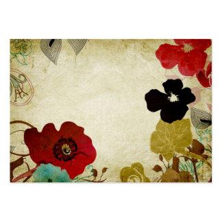 Retro blommavisitkort set av breda visitkort
