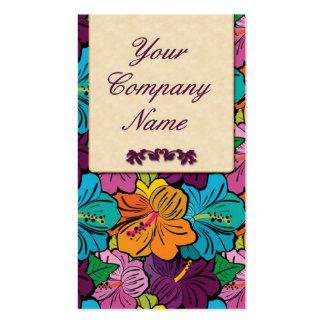 Retro/blommig design set av standard visitkort